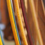 Preparazione della corda (Tsuru) da utilizzare nel Kyudo